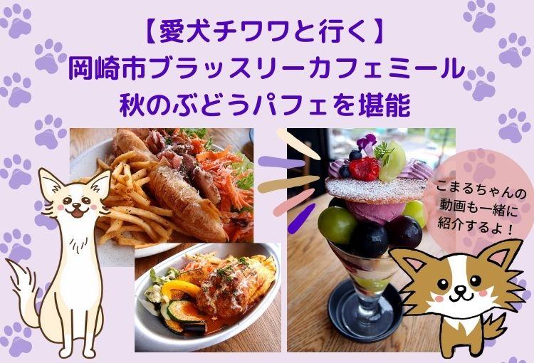 【愛犬チワワと行く】岡崎市ブラッスリーカフェミールの口コミ!話題のミールカフェで秋のぶどうパフェを堪能