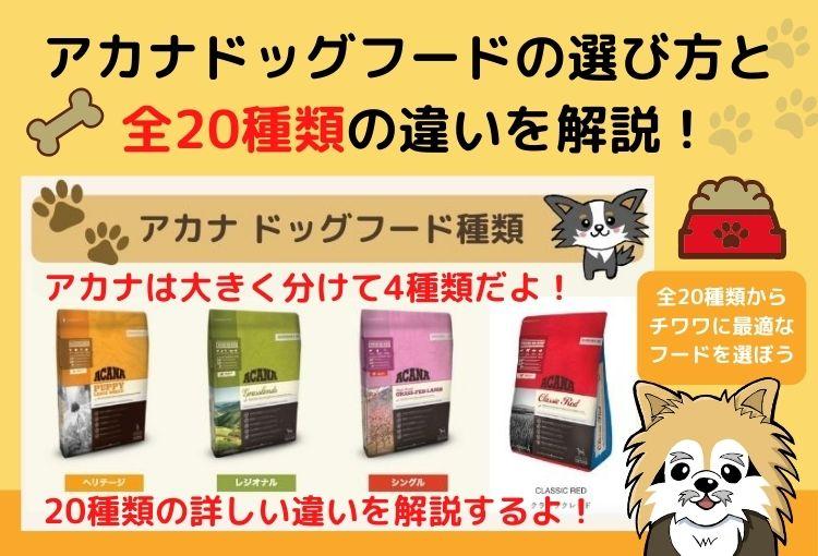 【最新】アカナドッグフード全20種類の違いと選び方!愛犬に最適なドライフードがすぐに分かります