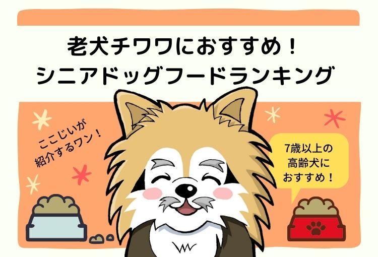 老犬チワワ(7歳以上の高齢犬)におすすめ!シニアドッグフードランキング3選